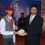 U-17 category winner, Muhammad Sheheryar (a student of LPS), being awarded by Pakistan's Ambassador to Bahrain