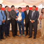 Winner of U-17 category receiving a Gold Medal and cash prize from Mr. Imran Mian – Director Finance LSS.