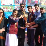 Hali House Captains receiving 'Best House' prize from Mr. Rehan Butt.
