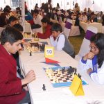 A Panoramic view of the Chess Battlefield, all set at the Laurelbank School System Alhamra Town Campus